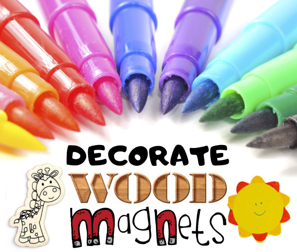 Decorate Wood Magnets